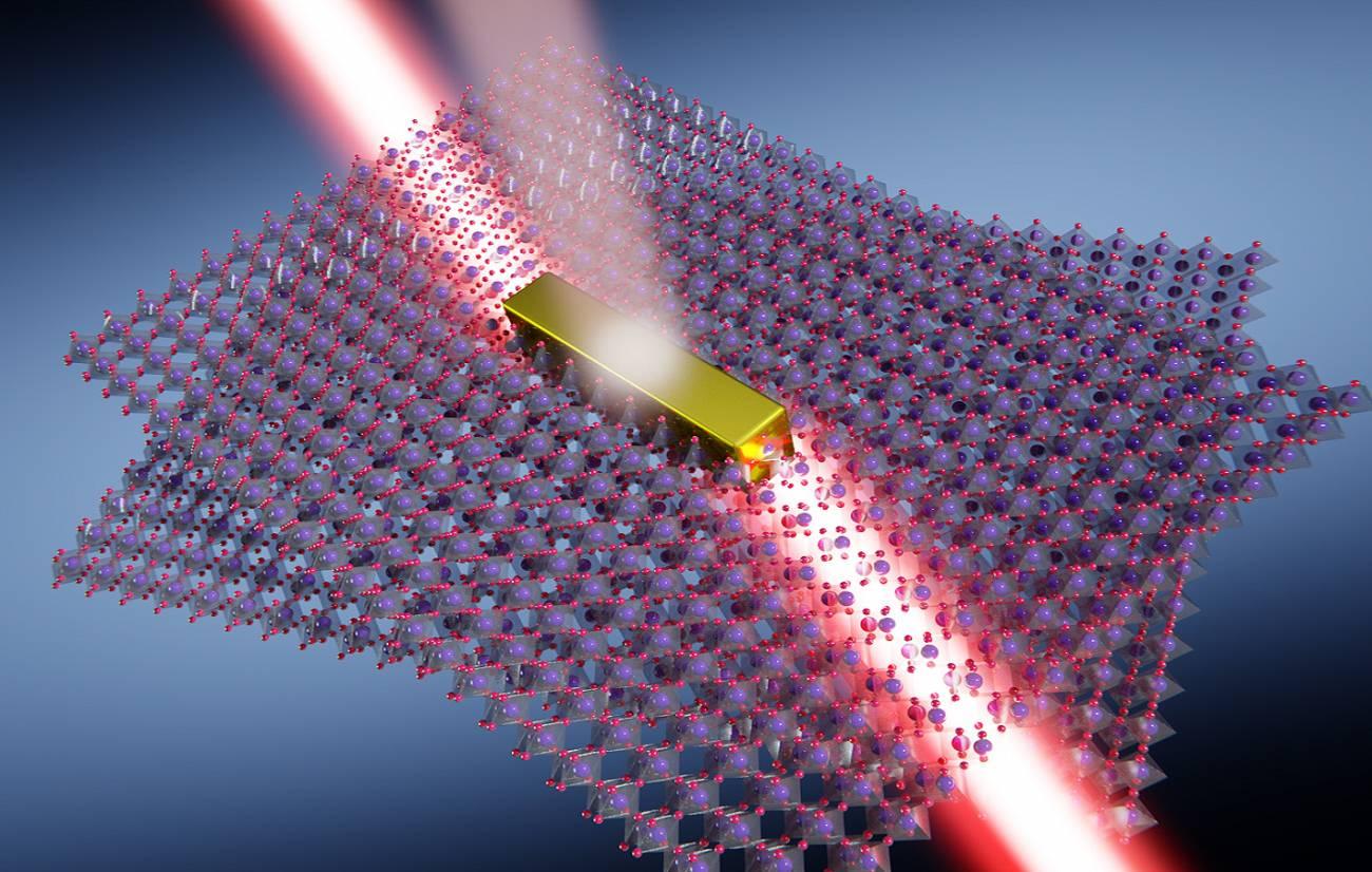 Luz direccional en la nanoescala utilizando dos capas de trióxido de molibdeno rotadas con un ángulo crítico (63º). / Univ. de Oviedo