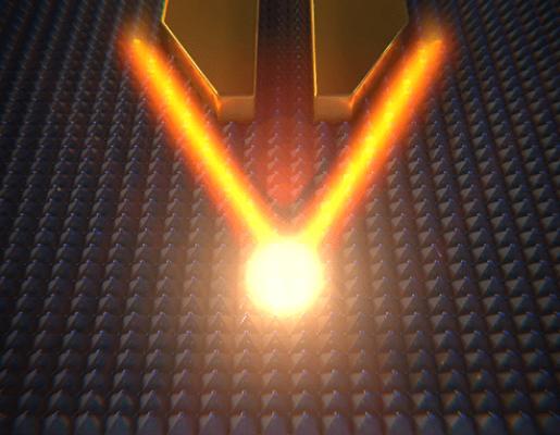 Focalizado de Nanoluz mediante el uso de nanoantenas de oro (www.scixel.es)